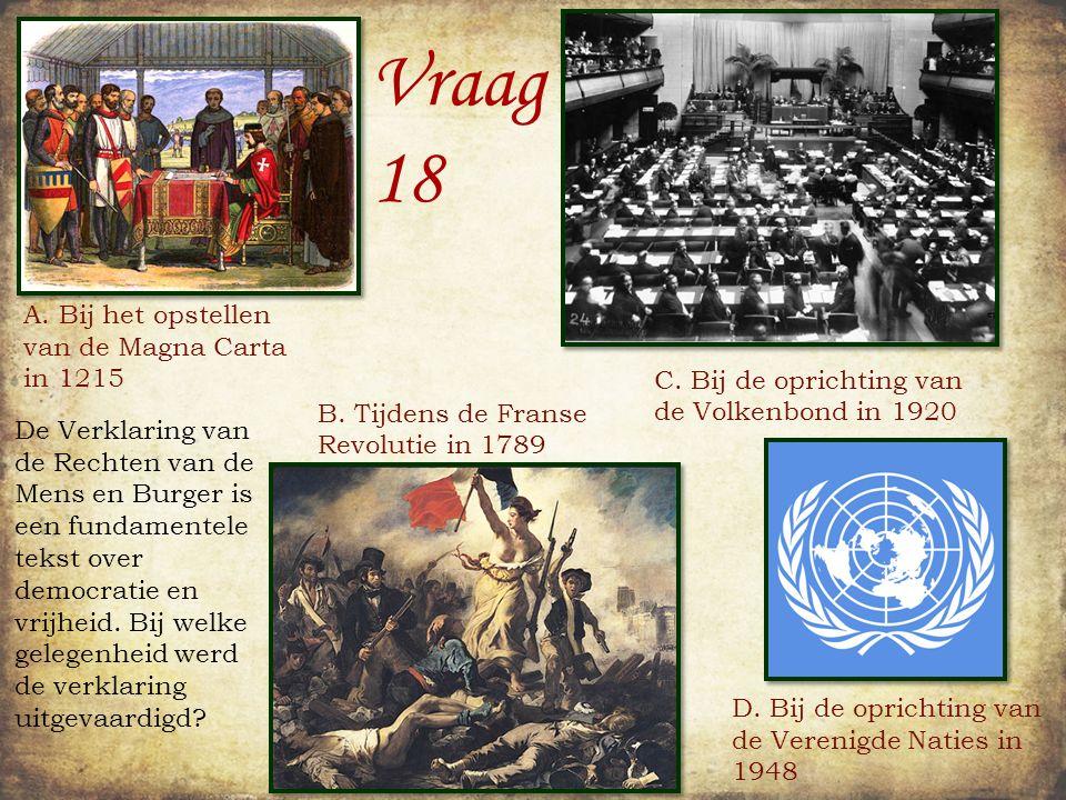 Vraag 17 Heel Nederland leek begin vorige eeuw in de ban van de luchtvaart.