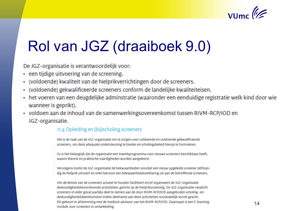 14 Rol van JGZ (draaiboek 9.0)