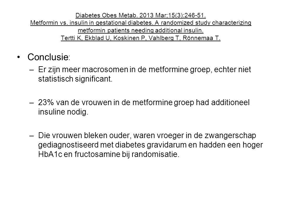 Diabetes Obes Metab.2013 Mar;15(3):246-51. Metformin vs.