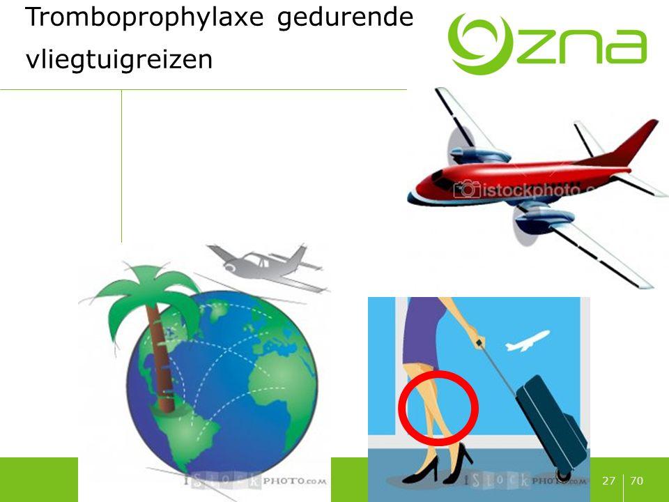 7027 Tromboprophylaxe gedurende vliegtuigreizen