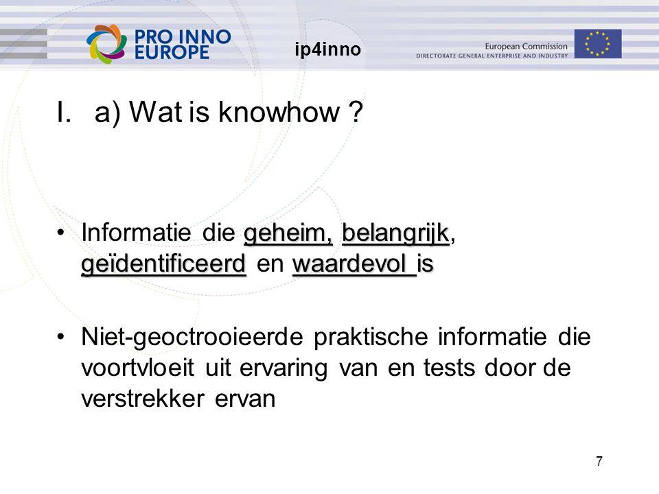 ip4inno 48 IV.a) Zijn businessmethoden octrooieerbaar.