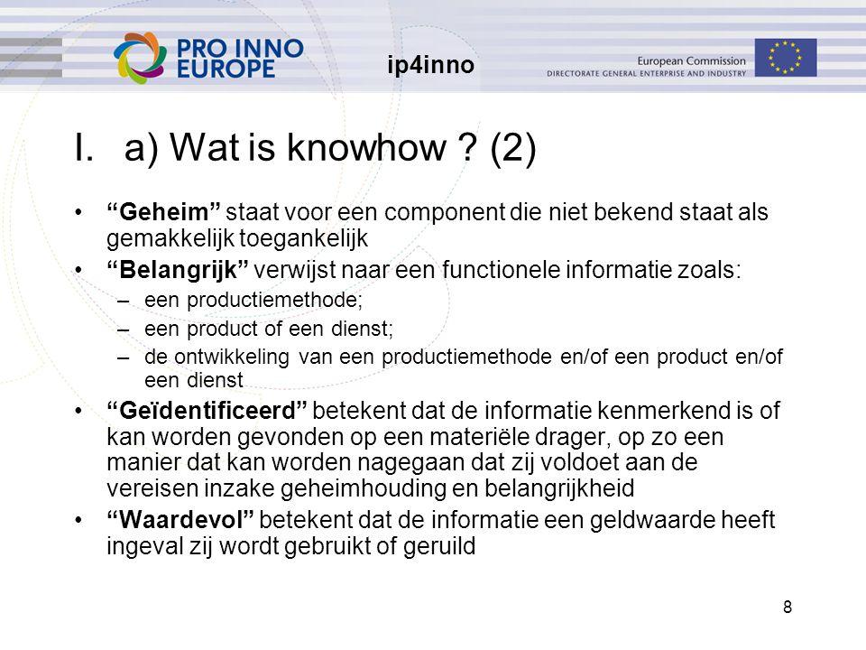 ip4inno 49 IV.a) Zijn businessmethoden octrooieerbaar.