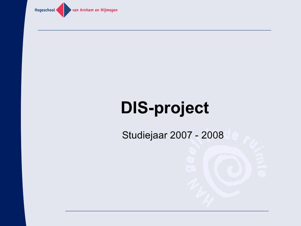 DIS-project Studiejaar 2007 - 2008