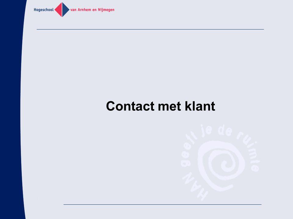 Contact met klant