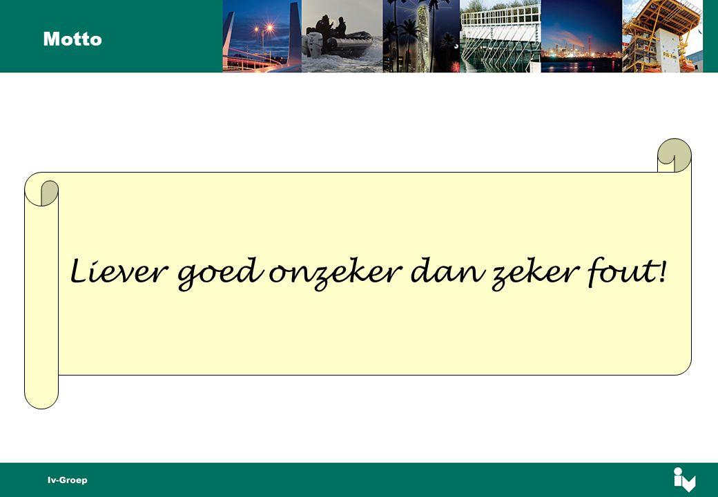 Motto Liever goed onzeker dan zeker fout!