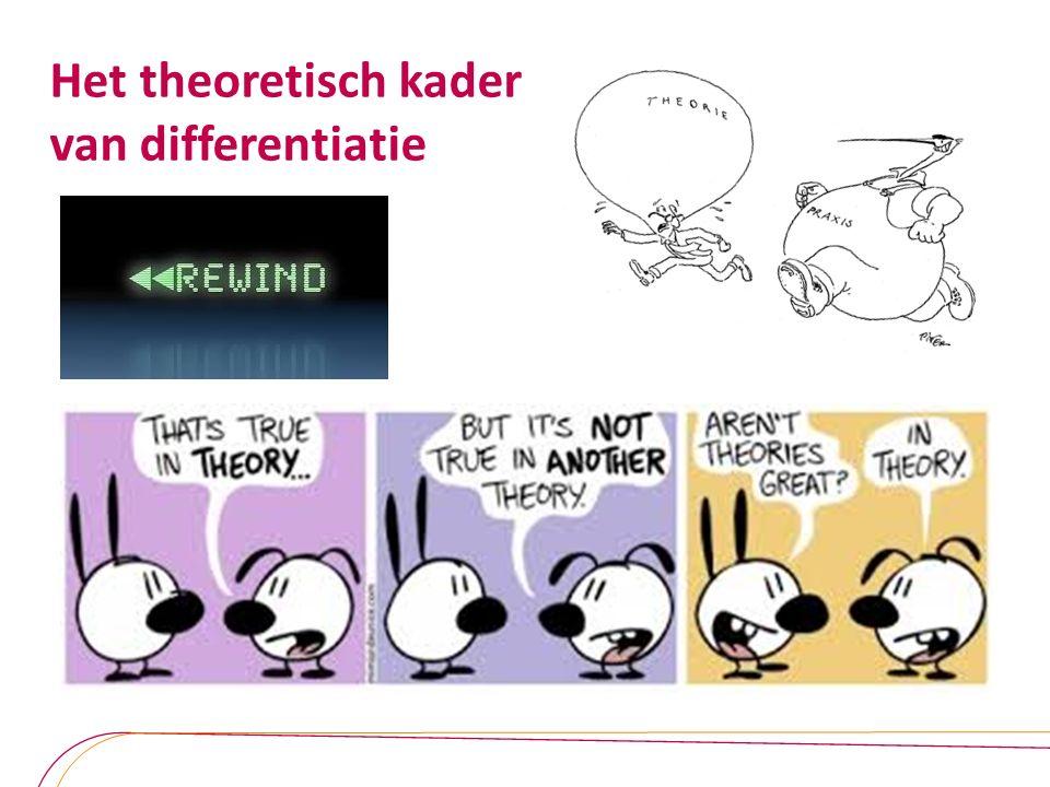 Het theoretisch kader van differentiatie