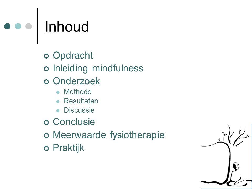 Fysiotherapie Heeft mindfulness een meerwaarde voor de fysiotherapie.