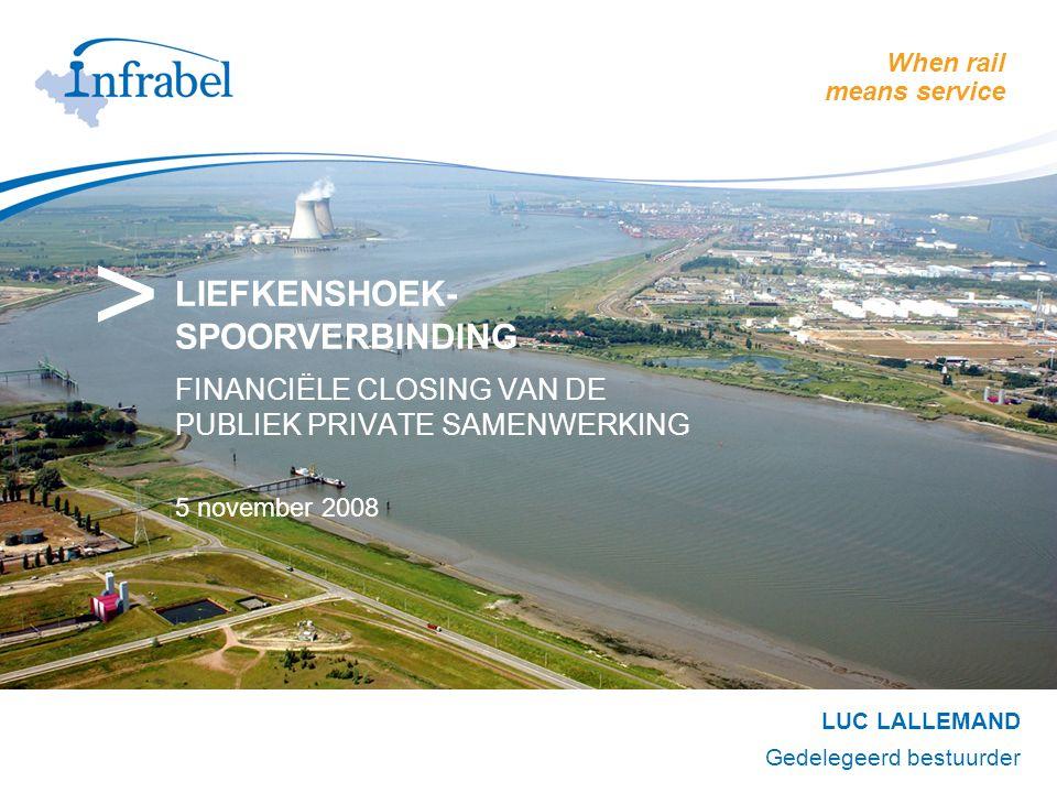 20081105_Liefkenshoekspoorverbinding2 INHOUD 1.Infrabel-strategie voor de Antwerpse haven 2.De Liefkenshoekspoorverbinding 3.Publiek Private Samenwerking 4.Projectvennootschap LOCORAIL NV 5.Conclusie & Vragen