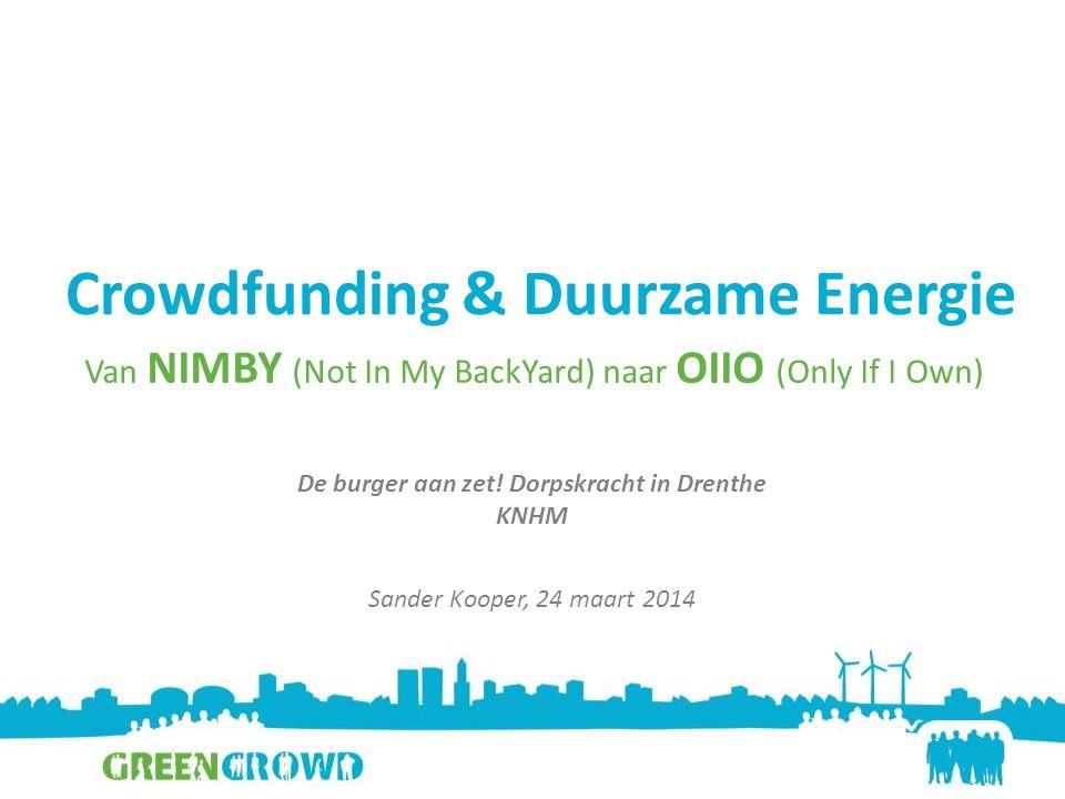 Crowdfunding & Duurzame Energie De burger aan zet.