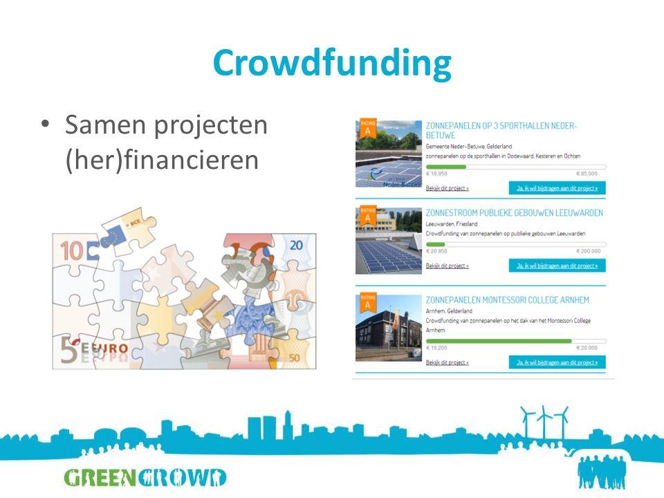 Crowdfunding Samen projecten (her)financieren