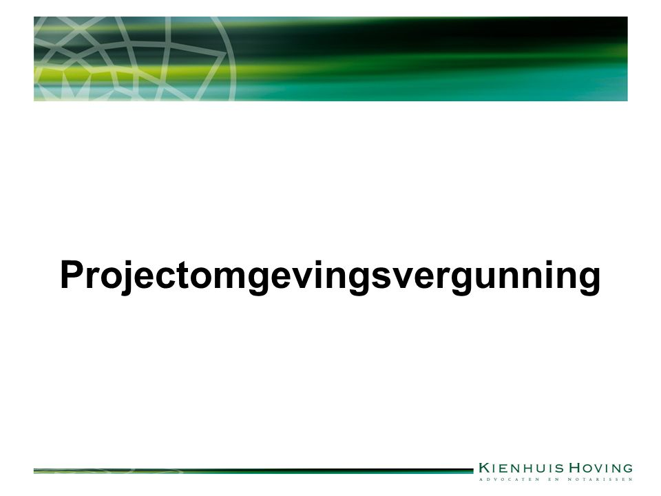 Projectomgevingsvergunning