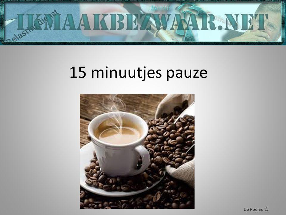 15 minuutjes pauze