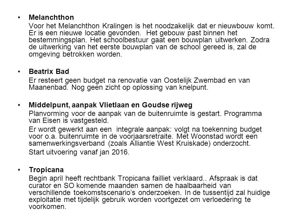 Melanchthon Voor het Melanchthon Kralingen is het noodzakelijk dat er nieuwbouw komt.