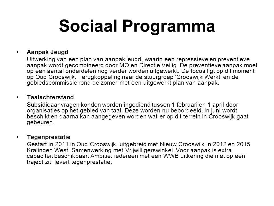 Sociaal Programma Aanpak Jeugd Uitwerking van een plan van aanpak jeugd, waarin een repressieve en preventieve aanpak wordt gecombineerd door MO en Directie Veilig.