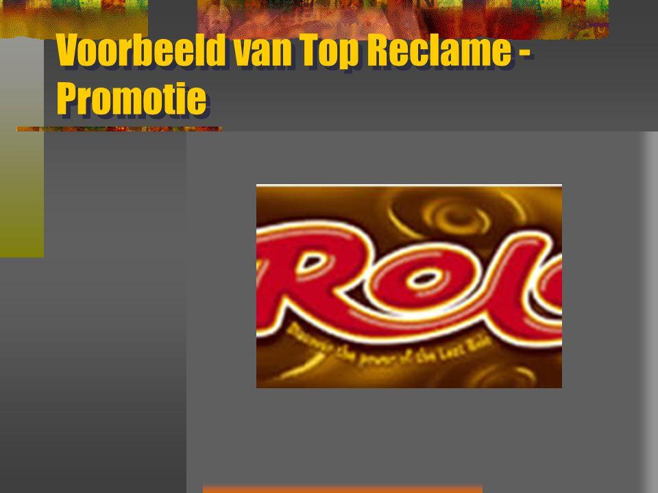 Voorbeeld van Top Reclame - Promotie
