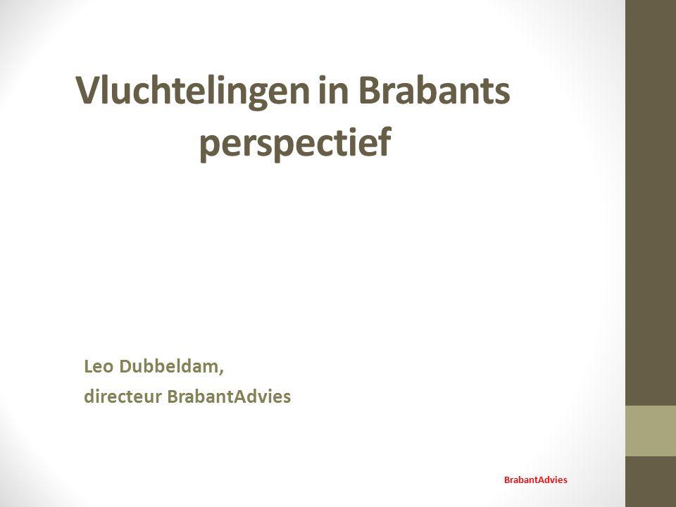 Vluchtelingen in Brabants perspectief Leo Dubbeldam, directeur BrabantAdvies BrabantAdvies