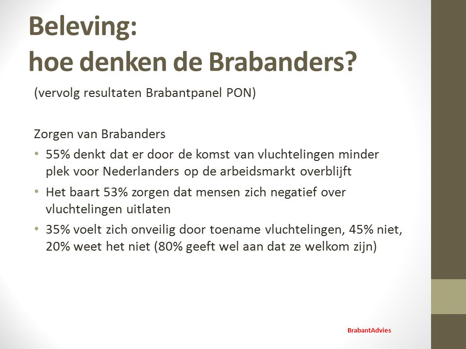 Beleving: hoe denken de Brabanders.