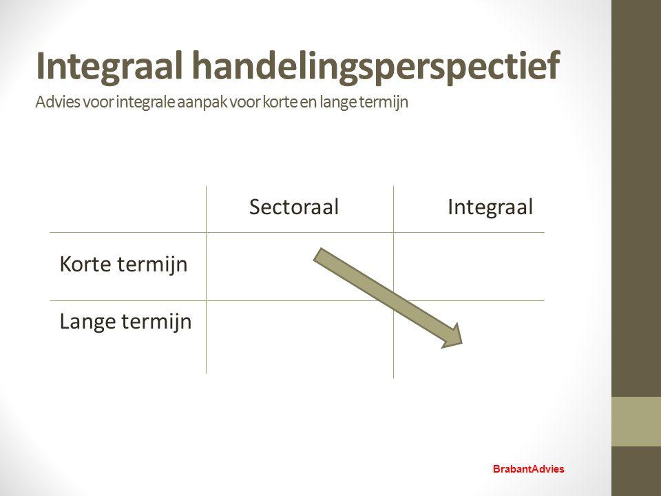 Integraal handelingsperspectief Advies voor integrale aanpak voor korte en lange termijn SectoraalIntegraal Korte termijn Lange termijn BrabantAdvies