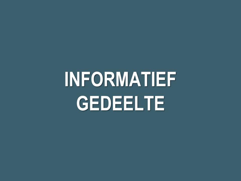 INFORMATIEF GEDEELTE