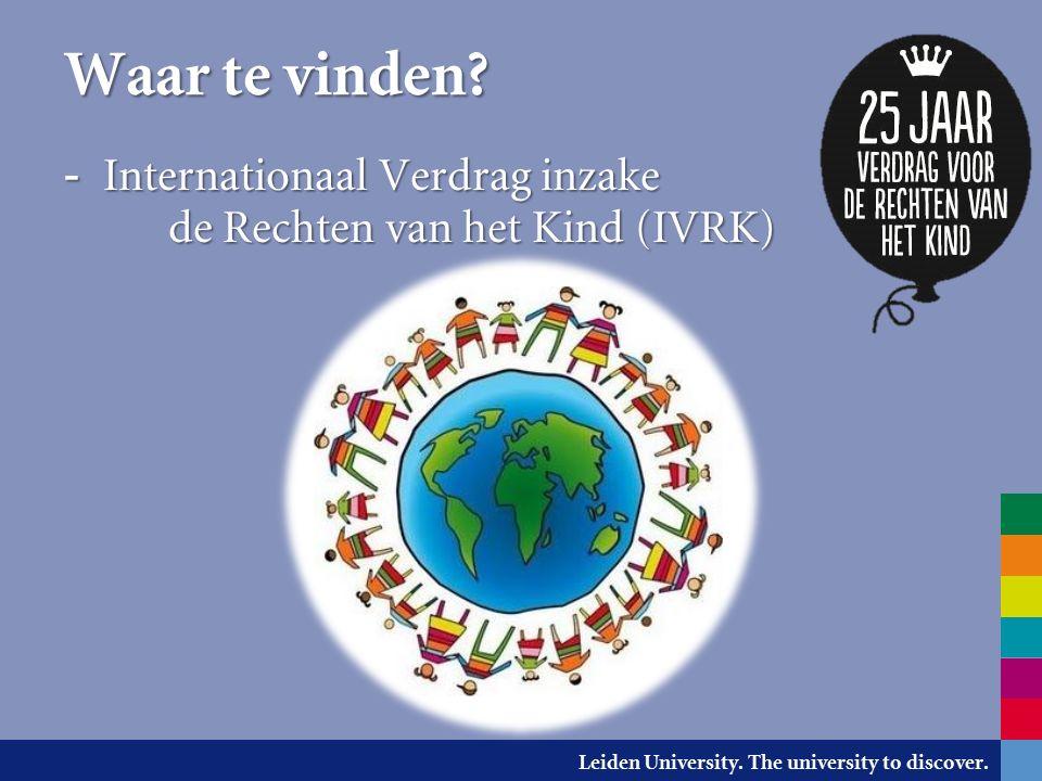 Leiden University. The university to discover. Uithuisplaatsing