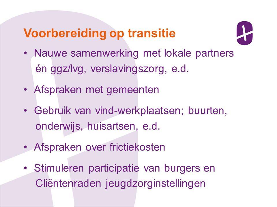 Nauwe samenwerking met lokale partners én ggz/lvg, verslavingszorg, e.d.