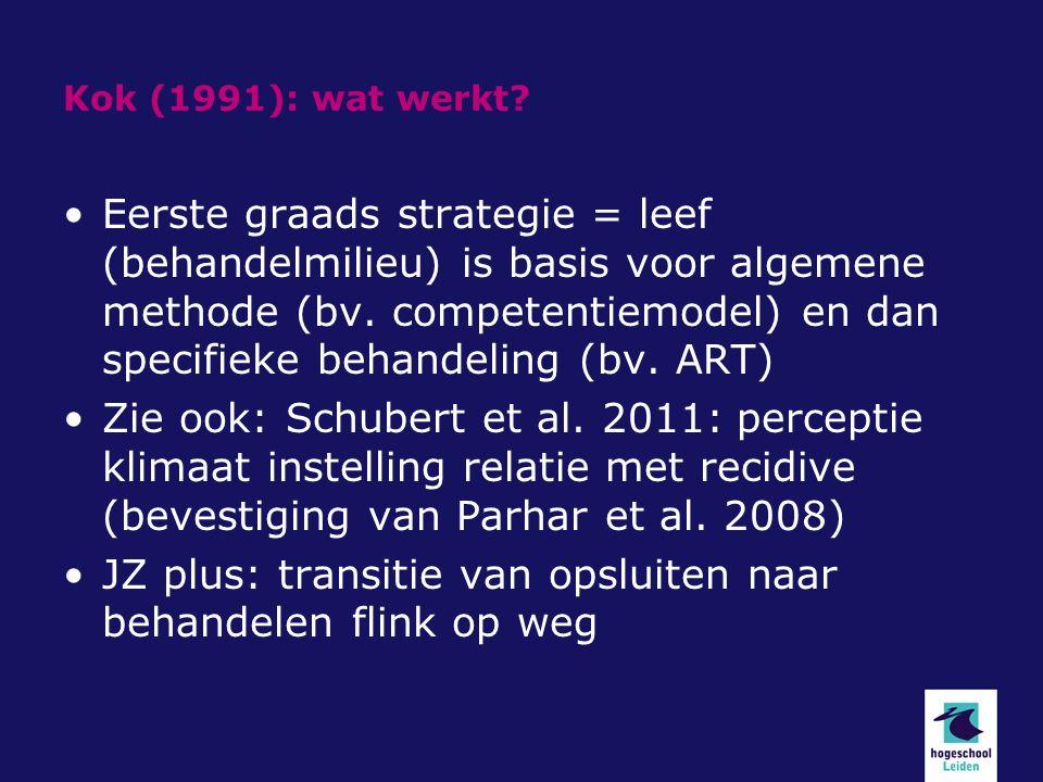 Kok (1991): wat werkt.