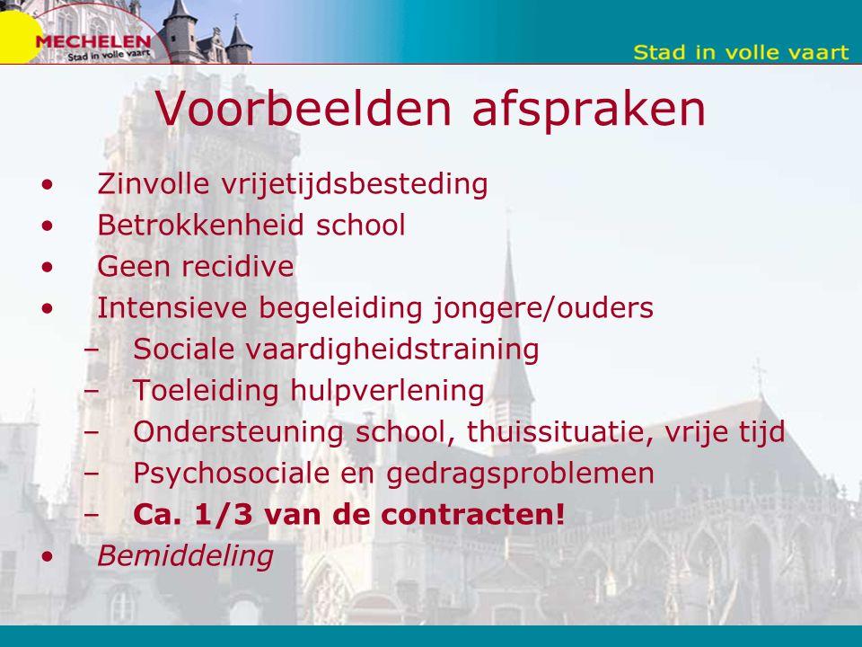 BEMIDDELING = Vrijwillig aanbod, geen invloed op evaluatie NERO-procedure DE PARTIJEN Minderjarigen die overlast plegen te Mechelen; de ouders; de benadeelde: zowel natuurlijk als rechtspersonen (stad, vzw, politiefunctionaris…).