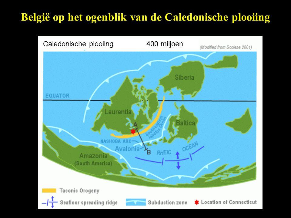 België op het ogenblik van de Caledonische plooiing Caledonische plooiing 400 miljoen