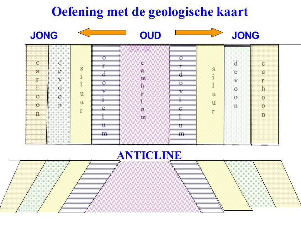 Oefening met de geologische kaart OUDJONG ANTICLINE