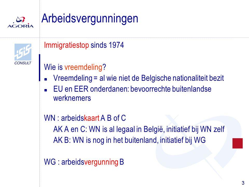3 Immigratiestop sinds 1974 Wie is vreemdeling? n Vreemdeling = al wie niet de Belgische nationaliteit bezit n EU en EER onderdanen: bevoorrechte buit