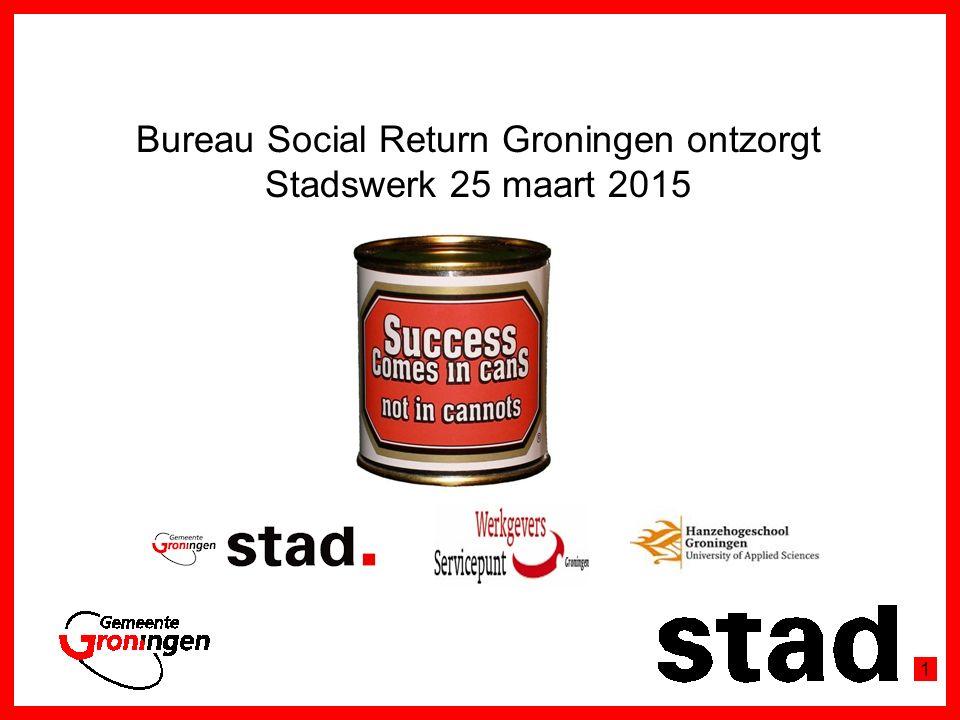 Bureau Social Return Groningen ontzorgt Stadswerk 25 maart 2015 1