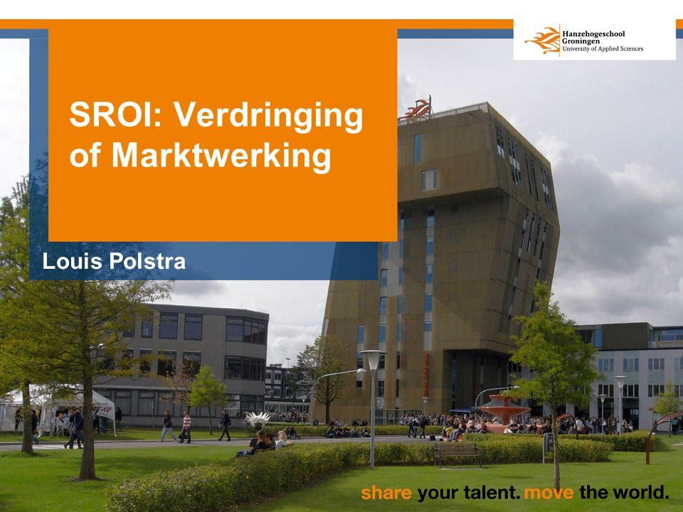 SROI: Verdringing of Marktwerking Louis Polstra