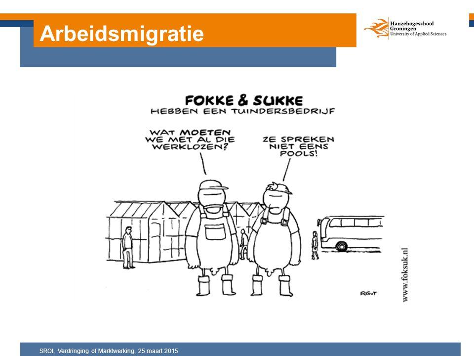 Arbeidsmigratie SROI, Verdringing of Marktwerking, 25 maart 2015