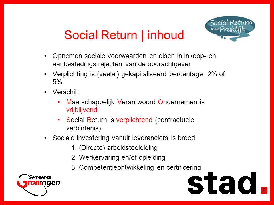 Vormen van Social Return Menukaart Bureau Social Return Groningen 6
