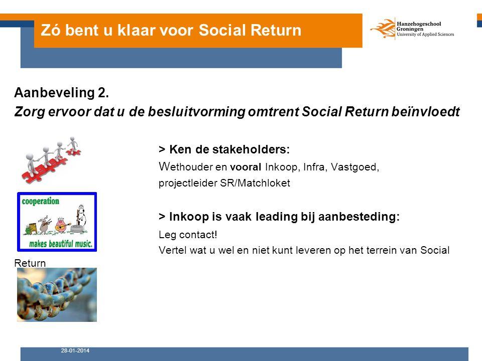 Zó bent u klaar voor Social Return Aanbeveling 2.