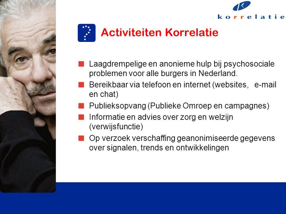 Laagdrempelige en anonieme hulp bij psychosociale problemen voor alle burgers in Nederland.