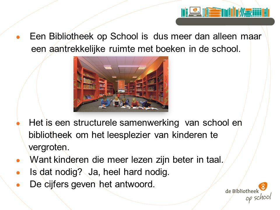 ● Een Bibliotheek op School is dus meer dan alleen maar een aantrekkelijke ruimte met boeken in de school.