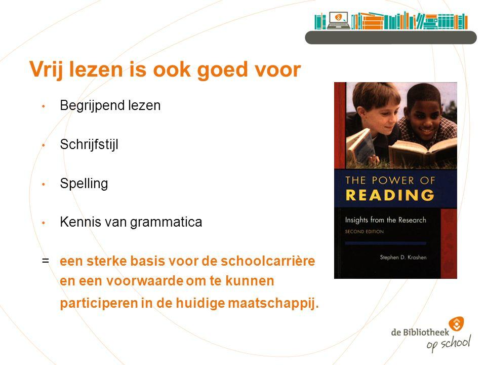 Begrijpend lezen Schrijfstijl Spelling Kennis van grammatica = een sterke basis voor de schoolcarrière en een voorwaarde om te kunnen participeren in de huidige maatschappij.