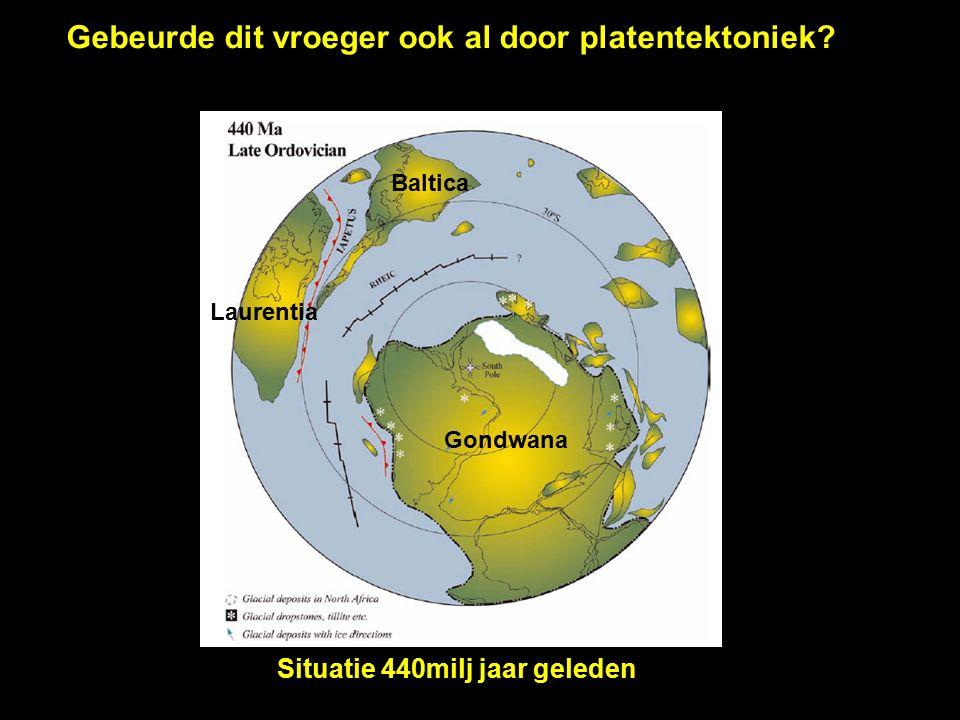 Gondwana Laurussia Armorica Laurentia Baltica Gondwana Gebeurde dit vroeger ook al door platentektoniek.