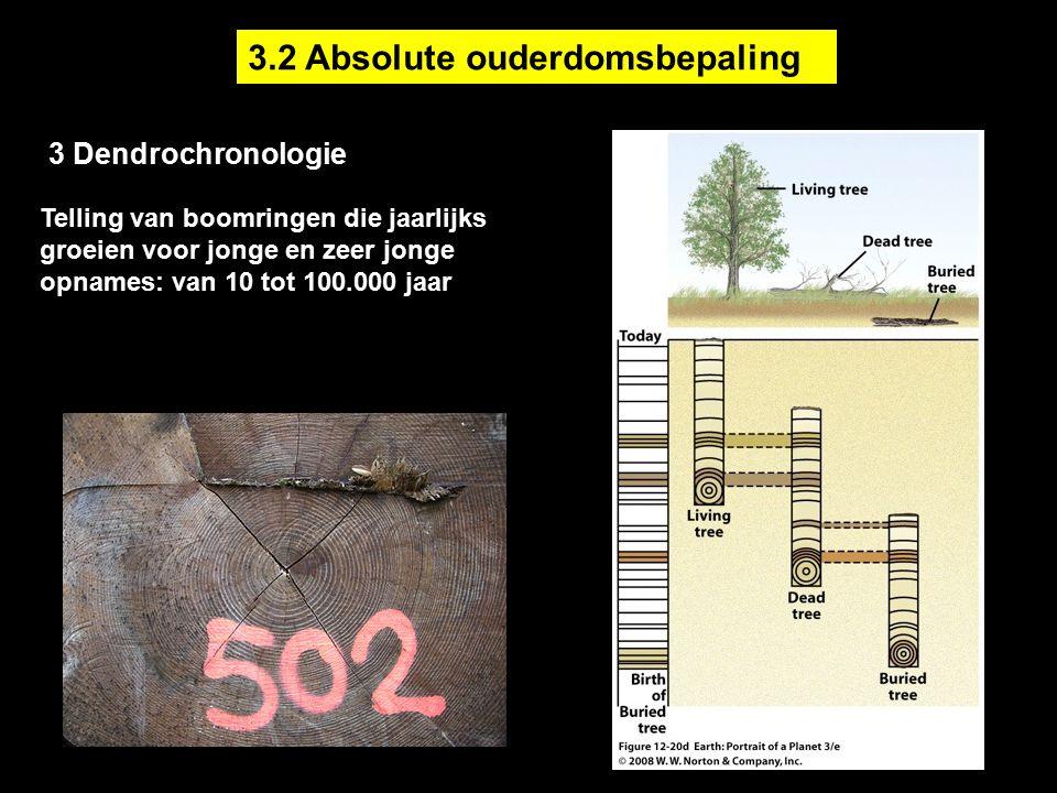 Telling van boomringen die jaarlijks groeien voor jonge en zeer jonge opnames: van 10 tot 100.000 jaar 3 Dendrochronologie