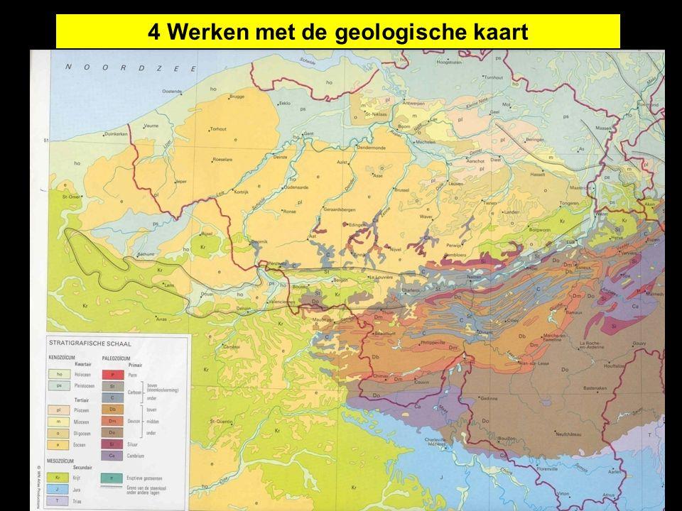 Relatieve ouderdomsbepaling 4 Werken met de geologische kaart