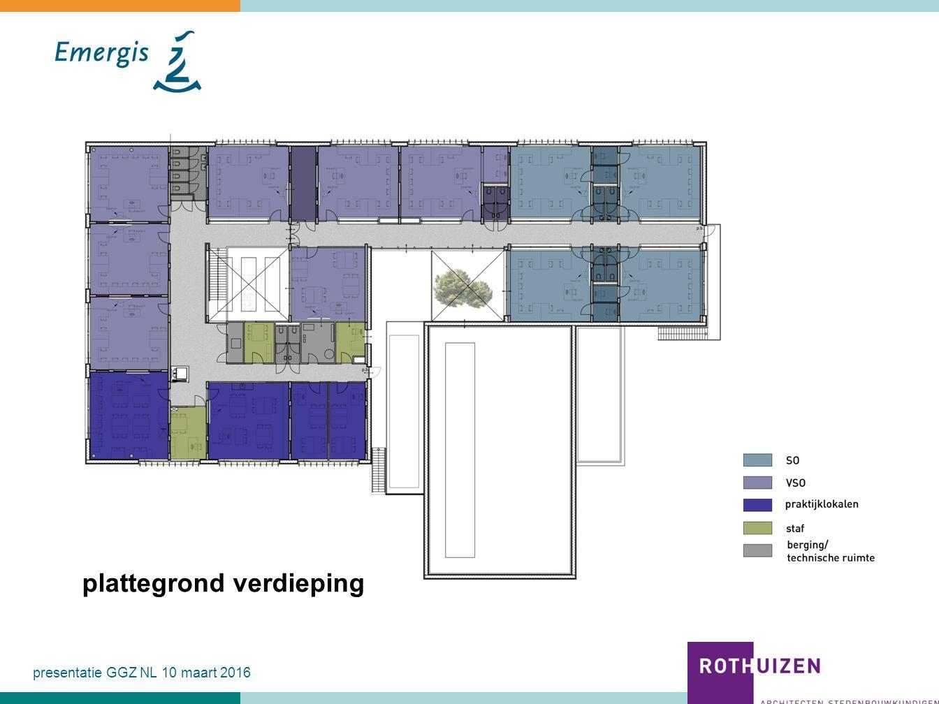 PLATTEGRONDEN presentatie GGZ NL 10 maart 2016 plattegrond verdieping