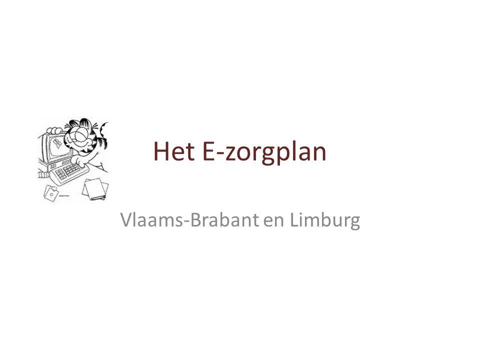 Het E-zorgplan Vlaams-Brabant en Limburg