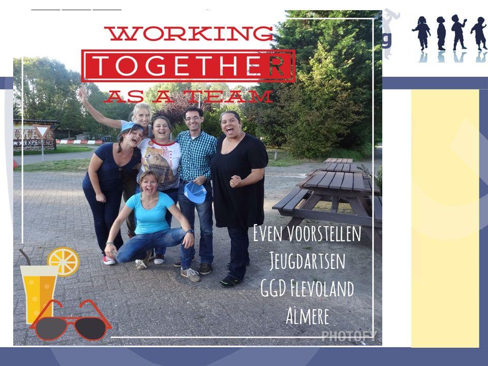 JGZ team Jeugdartsen (Almere) Jeugdverpleegkundige Adm. Medewerker Schoolmaatschappelijk werk TPM Jeugdgezondheidszorg