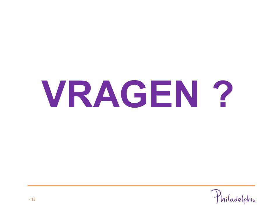 - 13 VRAGEN