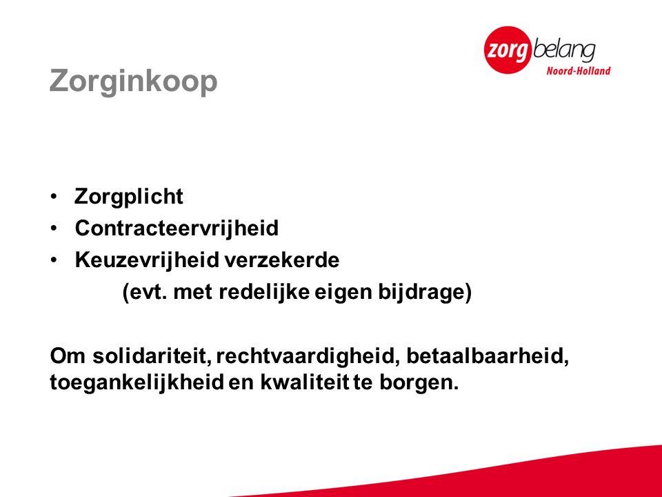 Zorginkoop Zorgplicht Contracteervrijheid Keuzevrijheid verzekerde (evt.