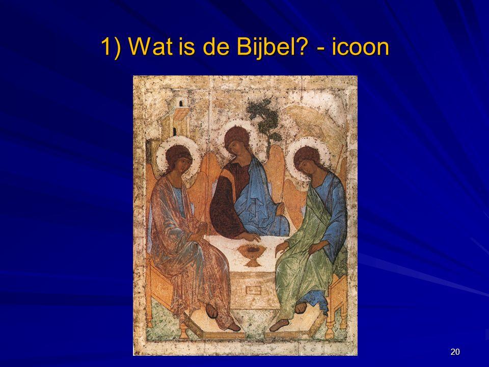 1) Wat is de Bijbel? - icoon 20
