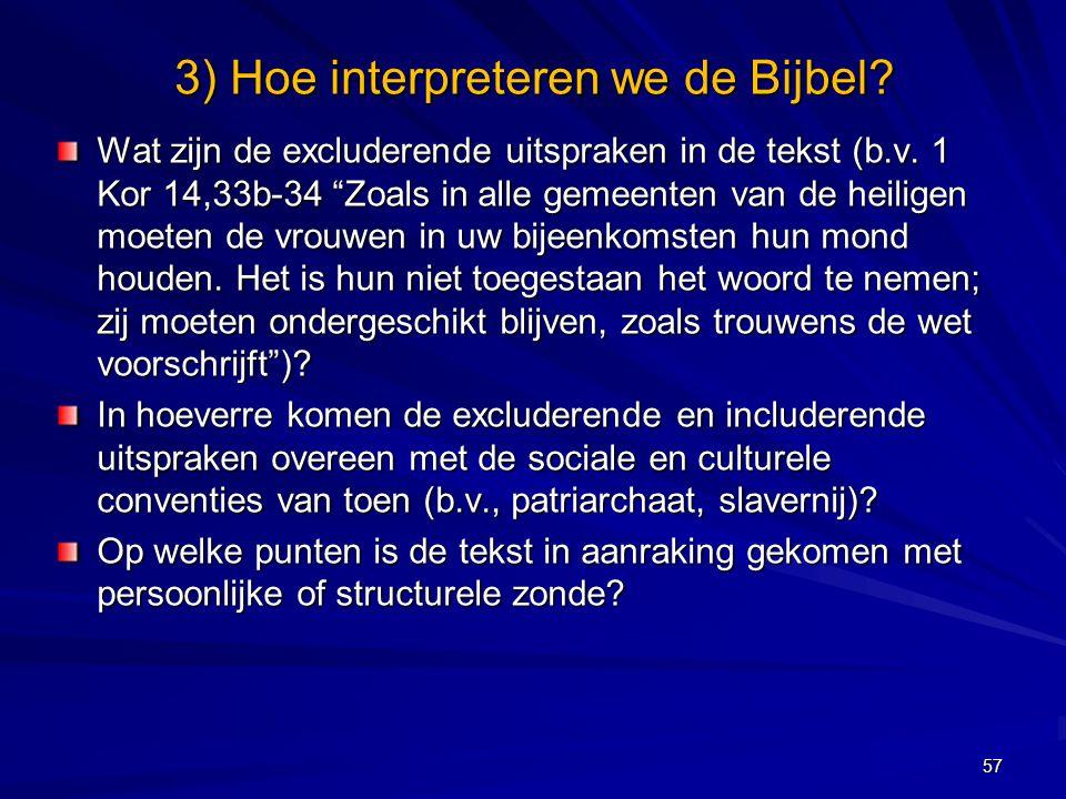Wat zijn de excluderende uitspraken in de tekst (b.v.
