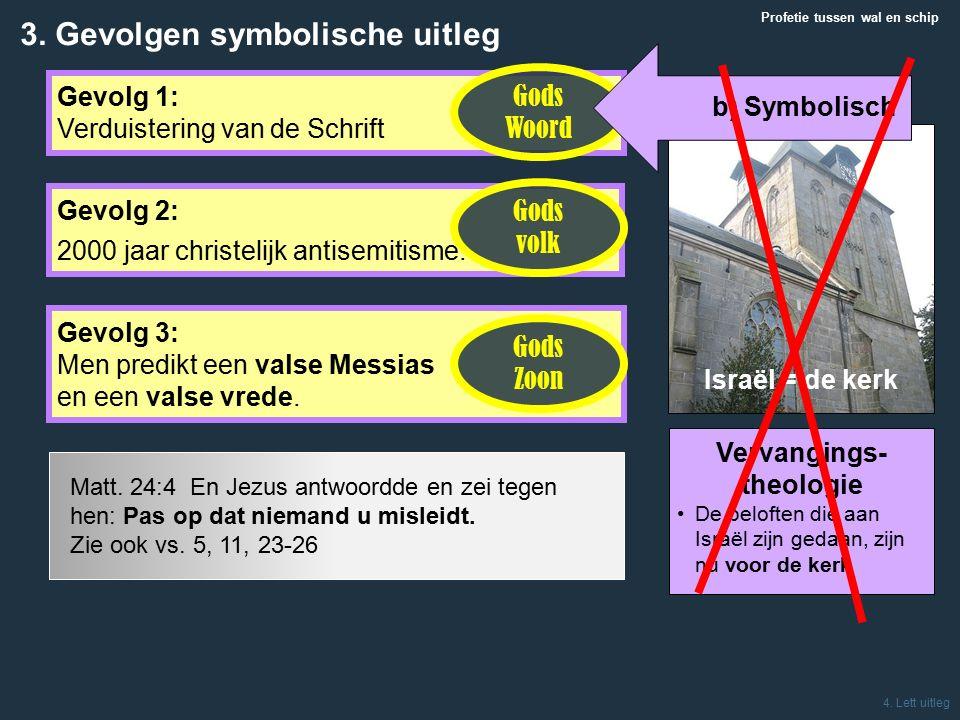 Israël = de kerk Profetie tussen wal en schip 4.