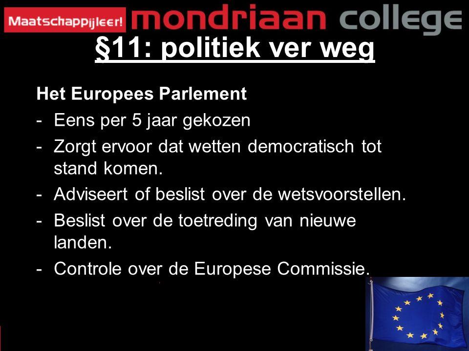 Het Europees Parlement -Eens per 5 jaar gekozen -Zorgt ervoor dat wetten democratisch tot stand komen.